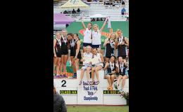The Greer Middle College girls 4x800 relay team won its second-straight state championship last week.