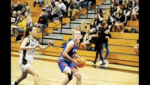 The Byrnes girls basketball team topped Greer, 58-34, last week on the road.