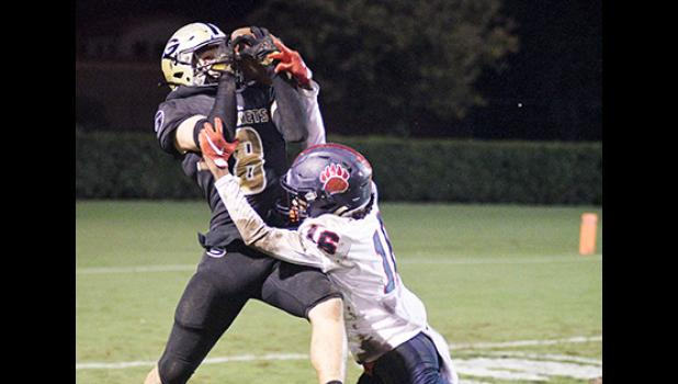 Chase Byrd makes a tough catch during Greer's 24-14 win over BHP Friday night.