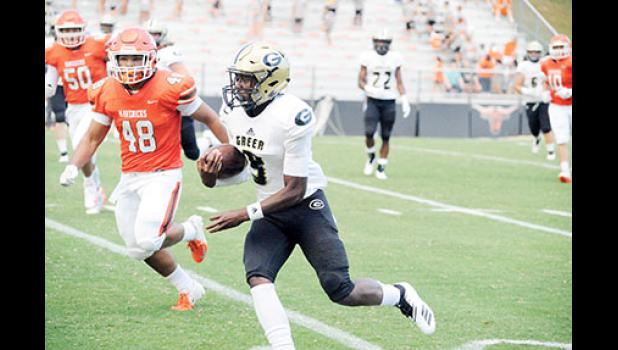 Trey Houston and the Yellow Jacket offense put up 40 points against Mauldin Friday.