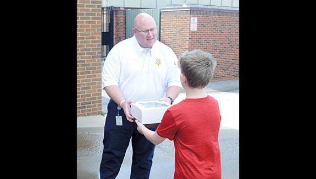 Abbott's Frozen Custard delivered desserts to local first responders last week.