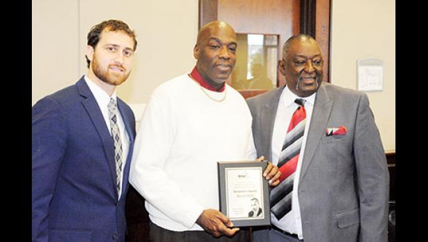 Marvin Miller, center, received the 2020 Samaritan Award at the 19th Annual MLK Luncheon on Monday.