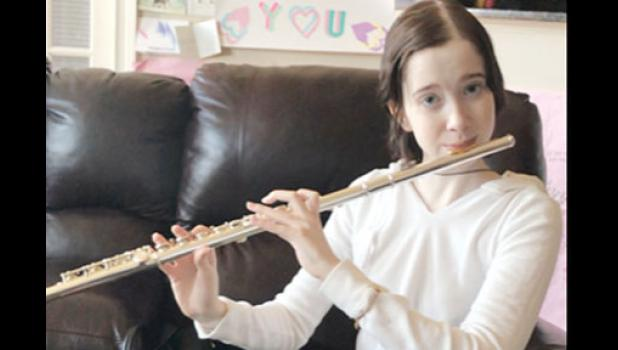 Bella's passion for the flute came naturally. Her mother, Brenda, played for six years while in school.