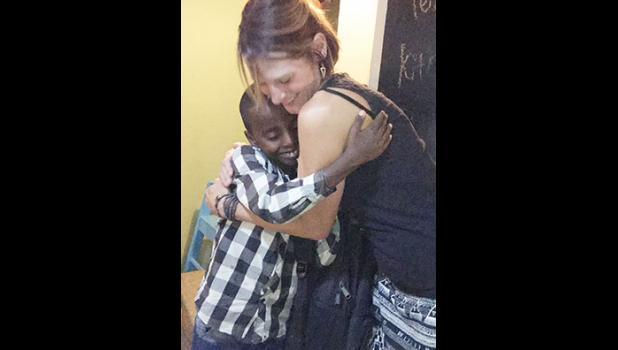 Becky Highsmith met Natnael Senbet, her sponsor child, in Ethiopia last October.