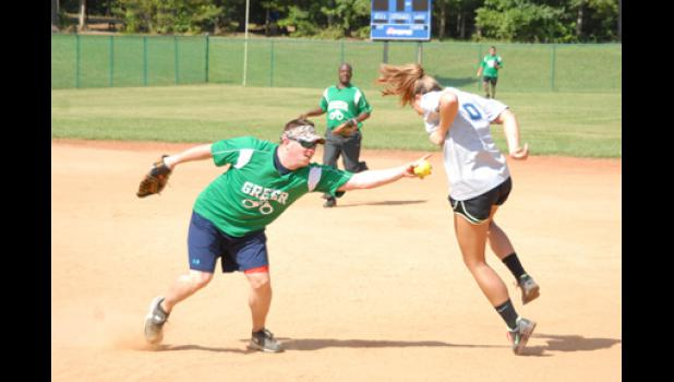 The Greer Police Department, along with several other Upstate agencies, used a friendly game of softball to raise money for the families of fallen officers.