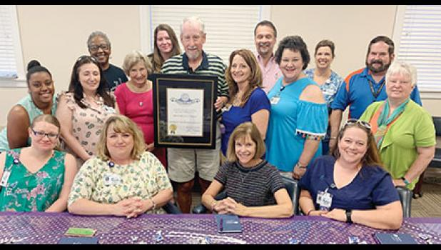 Rick McKeeman, a Greer veteran and ten-year hospice volunteer, was recently awarded the Order of the Silver Crescent at Lutheran Hospice.