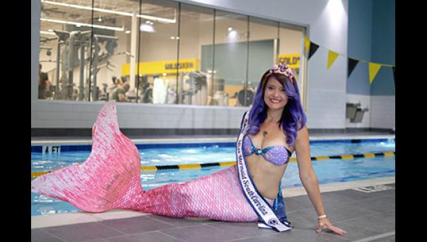 Ashley Tucker will be holding a public 'Meet the Mermaid' event on Monday at 6 p.m. at Gold's Gym in Greer.