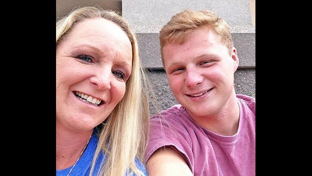 Lisa Pappas and her son Cameron, who passed away in 2015.