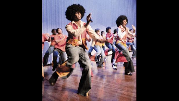 Dancers perform as The Jackson 5, honoring the Motown era in 