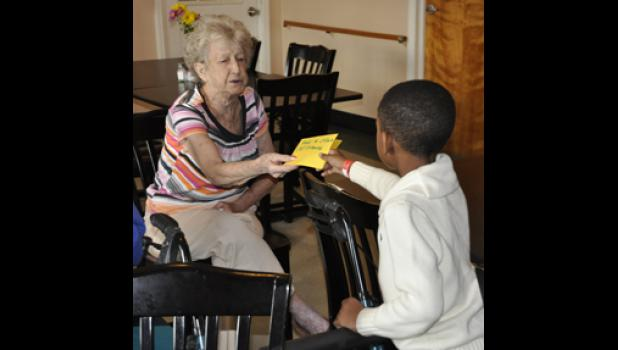 Wellford Academy students made Christmas cards for Midway residents and delivered them last week.