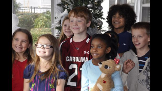 The Wellford Academy student council, made up of first through fourth graders, visited hospice patients in Moore recently, singing Christmas carols.