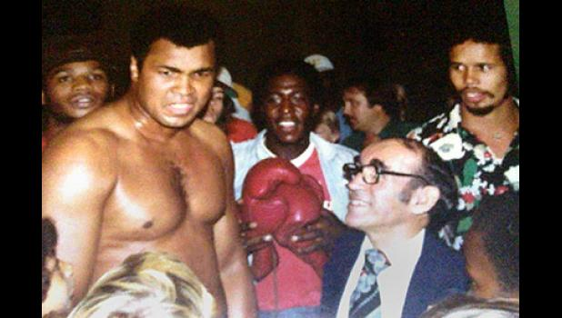 Fort shot this photo of Muhammad Ali when the famous boxer came to Columbia in August 1981 before his fight with Trevor Berbick.