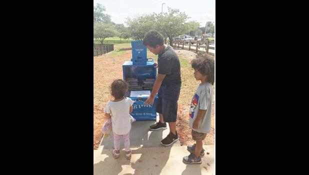 The City of Greer has installed a new 'Little Free Library' in Century Park.