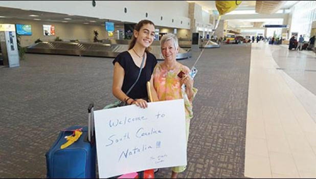 Judy Albert, who has hosted many exchange students with her husband, Herb,  welcomed Natalia to South Carolina a couple of years ago.