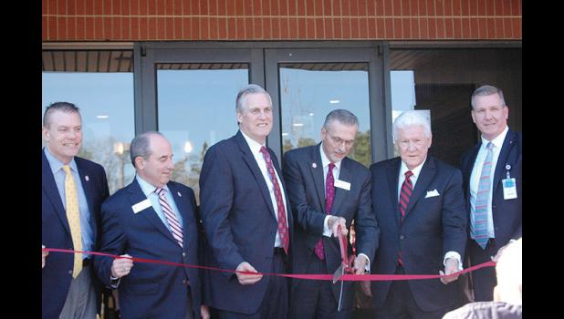 City leaders and North Greenville University officials cut the ribbon on a new campus in downtown Greer last week.