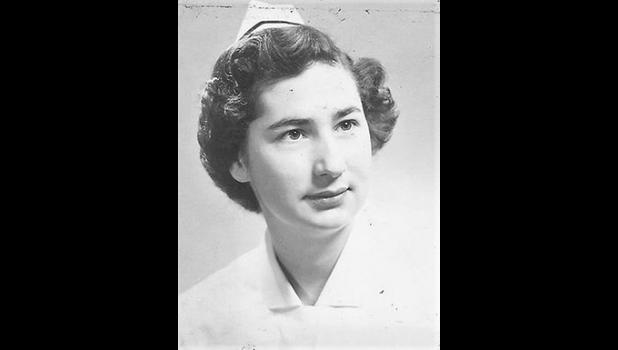 Ruth Westbury as a student nurse in the early 1950s.