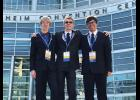 Blue Ridge High students David Dunlap, Reed Howell and Samuel Stewart placed second in 3D animation at the Future Business Leaders of America National Leadership conference  in Anaheim, California on July 2.  They competed with over 100 teams.