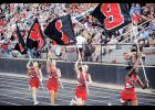 Friday fun: Classes are back in swing and so is High School football. Blue Ridge High cheerleaders.
