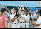 The Byrnes softball team celebrates after its 4-0 victory over Ashley Ridge to claim the Class AAAAA state championship.