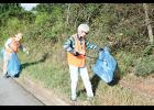 Tidying up: The Friends of Lake Robinson held its 2021 Litter Pick Up day on Saturday along Mays Bridge Road.