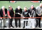 North Greenville University celebrated the opening of the newly built George Bomar Family Stadium at Ashmore Park with a ribbon cutting on Saturday. The baseball stadium includes a President's Box suite, a hospitality/media building, an entry plaza, and a 300-seat stadium structure directly behind home plate. The Bomar family contributed $600,000 to the project, and the university broke ground on Feb. 9, 2019.