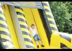 Immanuel United Methodist in Wellford held a Golden Anniversary celebration last weekend. Pictured: Will Sawyer rejoices in the milestone with a trip down the slide.