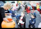 Vampires, police officers and an array of other characters trick-or-treated at Pelham First Baptist on Sunday.