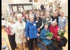 Primrose Garden Club members gathered at the Greer Heritage Museum last Tuesday to celebrate 66 years with Joada Hiatt, former librarian of the old Davenport Library and former curator of the Heritage Museum.