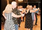 Participants cut a rug at Rob Rizzuto's monthly Ballroom Dance on Saturday at The Spinning Jenny.