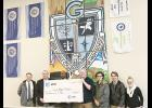 AT&T recently presented a $3,000 donation to Greer Middle College Charter High.