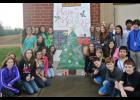 Audrey Cook's Art students submitted an entry for Fountain Inn's Giant Christmas Greeting Card contest and Lisa McClellan's was chosen as the winner for RMS.