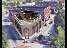 This illustration depicts what the old B.A. Bennett building could look like once it is renovated on Trade Street.