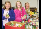 Blue Ridge Middle students recently delivered a trunk load of nonperishable food to Greer Community Ministries.