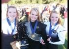 Courtney Good, Shelby McMakin and Kaylyn Good, left to right, have each served as drum major of the Blue Ridge Corps of Cadets. The photo above was taken in 2013 when McMakin served as drum major while her sisters were in the marching band.