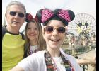 Bella Muntean, right, visited Disneyland in California with her parents, Dorin and Brenda, during her Make A Wish trip.