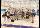 The Greer High Varsity and Junior Varsity squads with UCA instructor, Halie, and Coach Anna Brown.