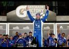 Ricky Stenhouse Jr., driver of the #17 Fifth Third Bank Ford, celebrates in Victory Lane after winning the Monster Energy NASCAR Cup Series 59th Annual Coke Zero 400 Powered By Coca-Cola at Daytona International Speedway on July 1 in Daytona Beach, Florida.