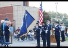 Byrnes High School students remembered 9/11 last Wednesday morning outside of the Fine Arts Center.