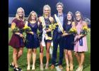 Eastside royalty: Eastside High crowned its homecoming queen during last Friday's football game against Southside. Winners included, Left to Right: junior, Kirkley Norwood; senior, Bridget Wilson; Homecoming Queen, Reagan Hack; King, Conner Sweeny; Freshman, Cami Kosmicki; Sophomore, Sullivan Corley.