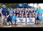 The GMC cross country team recently celebrated back-to-back state championships.