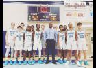 The GMC boys basketball team fell in the first round of the Class AA state playoffs.