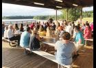 More than 40 Lions and their families celebrated the organization's first anniversary at Lake Robinson.