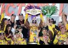 Kyle Busch collected his 200th NASCAR national series victory on Sunday at Auto Club Speedway.