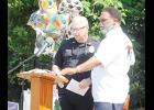 Rev. Earl Simmons, Pastor of Maple Creek Missionary Baptist Church, invited Greer Police Chief Matt Hamby to address students and families during a student recognition event on Sunday.