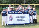The Northwood 10U team claimed a district title last week.