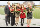 North Greenville University held its Homecoming festivities recently. Pictured are: NGU President Dr. Gene C. Fant, Jr.; 2018 Homecoming Queen Allison Yeater; 2019 Homecoming Queen Abbey Blackwood; Abi Waters, second runner-up; and Josey Dorn, first runner-up announced at halftime of the Crusader's homecoming game against Valdosta State.