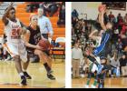 Left photo: Ross Mathis, right, did it all for Blue Ridge this season. The senior guard will take her talents to Lincoln Memorial University in the fall. Right: Eastside called Wesley Johnson's number on numerous occasions this season. The senior power forward put up more than 15 points per game.