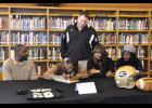 Greer's Quez Nesbitt signs to play  college football at Georgia Military College. The senior leaves Greer as the school's all-time leading rusher. He will run track and field for the Yellow Jackets in the spring.