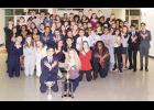 The Riverside Speech and Debate Team recently received its eighth consecutive state title, winning both the Class AAAAA championship and the overall sweepstakes award at the South Carolina Speech and Debate Coaches' Association State Tournament held at Riverside High School on March 2. The Warriors went undefeated in North and South Carolina this year. In addition to winning the overall prize, Riverside students won several individual champions in both speech and debate divisions.