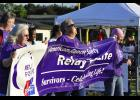 Greer's annual Relay for Life event officially kicked off with the Survivor Walk lap. Funds raised Friday night totaled $34,000.